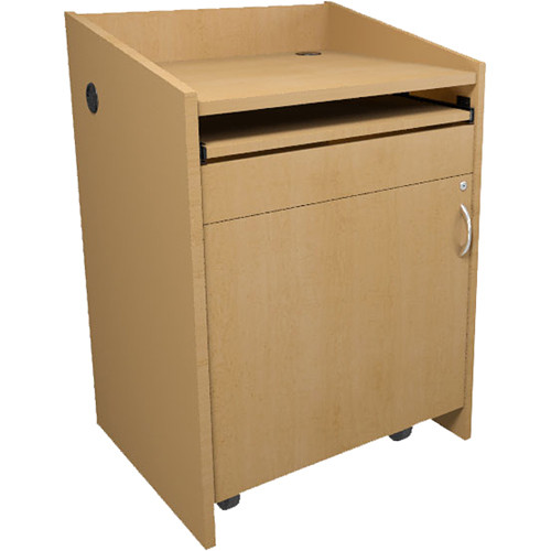Middle Atlantic L2 Series Lectern with Connectivity (Knotted Maple)