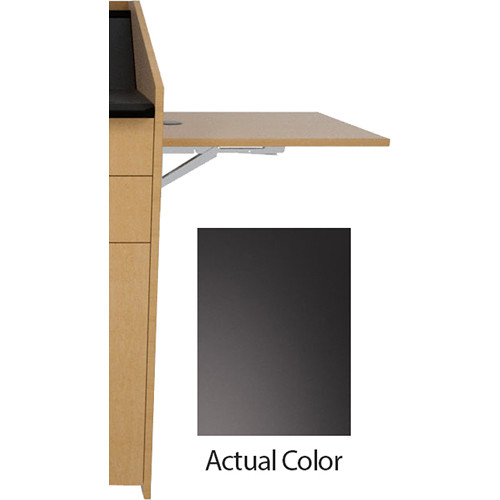 Middle Atlantic L5 Flip-Up Shelf for L5 Lecterns (High-Pressure Laminate, Black)