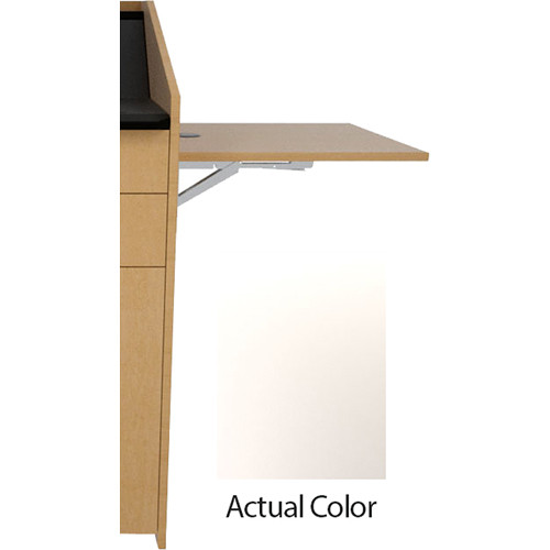 Middle Atlantic L5 Flip-Up Shelf for L5 Lecterns (High-Pressure Laminate, Bright White)