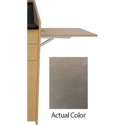 Middle Atlantic L5 Flip-Up Shelf for L5 Lecterns (High-Pressure Laminate, Earthwash)