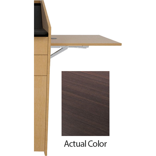 Middle Atlantic L5 Flip-Up Shelf for L5 Lecterns (High-Pressure Laminate, Espresso Pear)