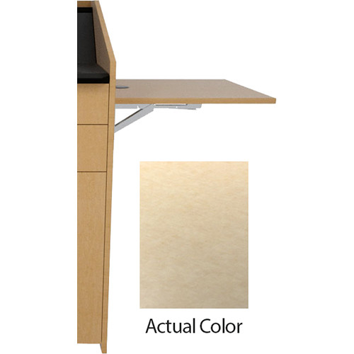 Middle Atlantic L5 Flip-Up Shelf for L5 Lecterns (High-Pressure Laminate, Flax Gauze)
