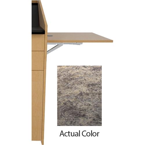 Middle Atlantic L5 Flip-Up Shelf for L5 Lecterns (High-Pressure Laminate, Perlato Granite)
