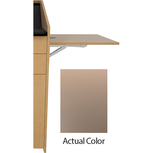 Middle Atlantic L5 Flip-Up Shelf for L5 Lecterns (High-Pressure Laminate, Shadow)