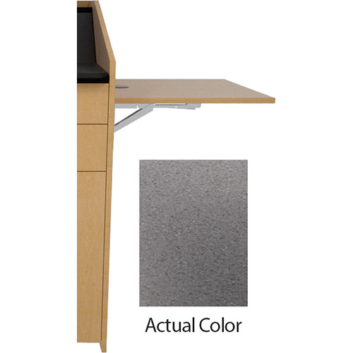 Middle Atlantic L5 Flip-Up Shelf for L5 Lecterns (High-Pressure Laminate, Smoke Quarkstone)