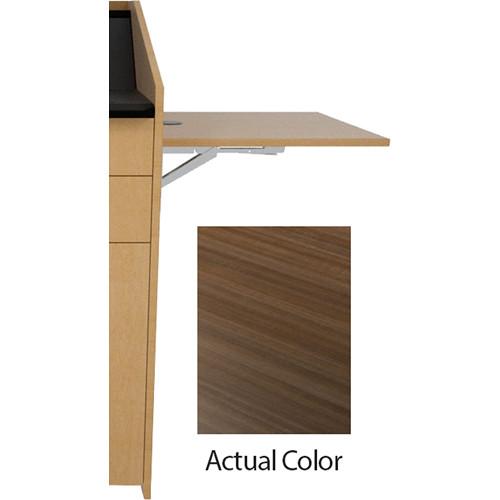 Middle Atlantic L5 Flip-Up Shelf for L5 Lecterns (High-Pressure Laminate, Studio Teak)