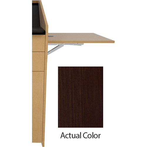 Middle Atlantic L5 Flip-Up Shelf for L5 Lecterns (Thermolaminate, Cafe Noir)