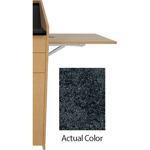 Middle Atlantic L5 Flip-Up Shelf for L5 Lecterns (Thermolaminate, Darkstone)