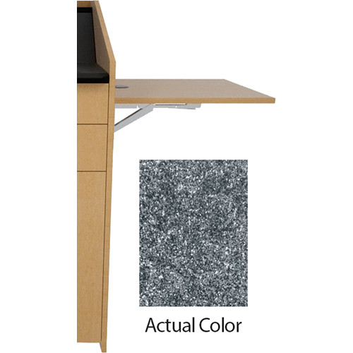 Middle Atlantic L5 Flip-Up Shelf for L5 Lecterns (Thermolaminate, Graystone)