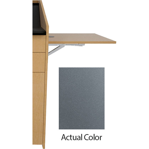 Middle Atlantic L5 Flip-Up Shelf for L5 Lecterns (Thermolaminate, Shark Gray)