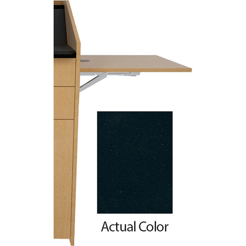 Middle Atlantic L5 Flip-Up Shelf for L5 Lecterns (Thermolaminate, Slate)