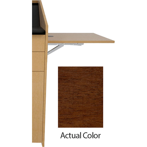 Middle Atlantic L5 Flip-Up Shelf for L5 Lecterns (Veneer, Cerise Sapele)
