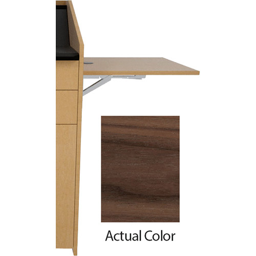 Middle Atlantic L5 Flip-Up Shelf for L5 Lecterns (Veneer, Latte Walnut)