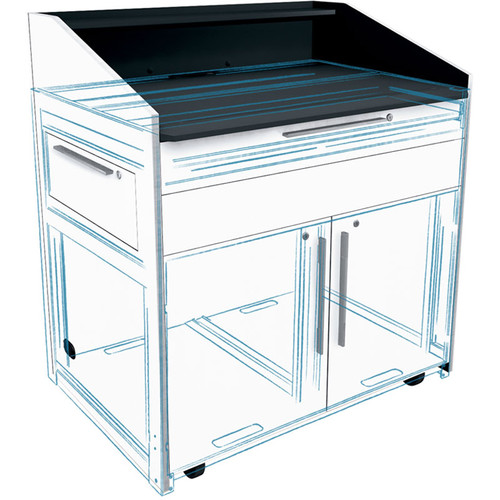 """Middle Atlantic Millwork Kit for 33"""" Wide L5 Lectern (Satin Nickel)"""