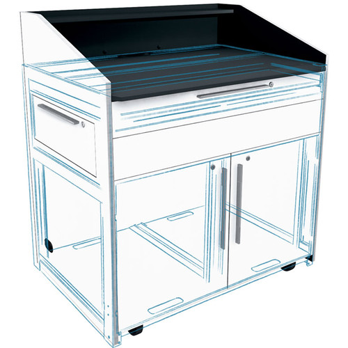 """Middle Atlantic Millwork Kit for 43"""" Wide L5 Lectern (Satin Nickel)"""