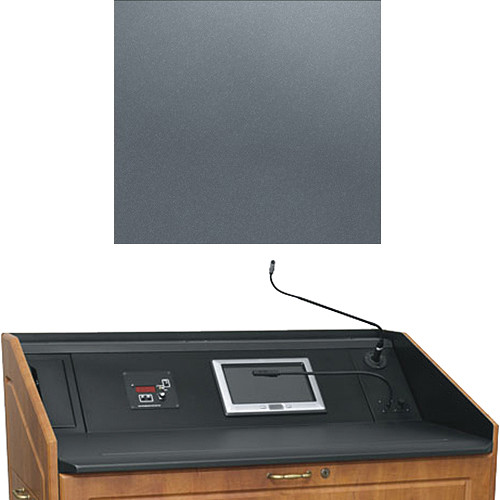 "Middle Atlantic L5 Turret Lectern Wood Finishing Kit for Presenter's Panel Frame (Traditional, Shark Gray, 23"" width)"