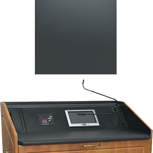 "Middle Atlantic L5 Turret Lectern Wood Finishing Kit for Presenter's Panel Frame (Traditional, Slate, 33"" width)"