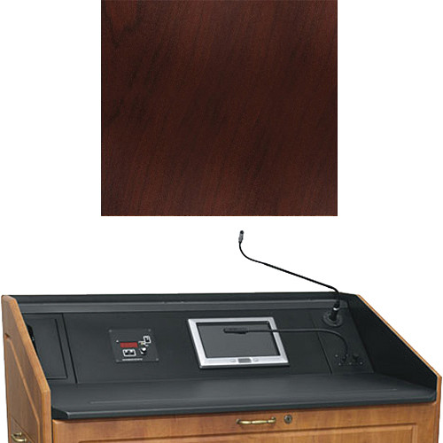 "Middle Atlantic L5 Turret Lectern Wood Finishing Kit for Presenter's Panel Frame (Contemporary, Dark Cherry, 23"" width)"