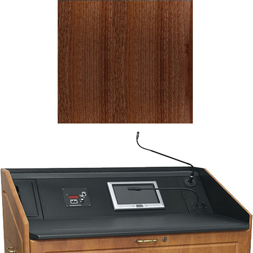 "Middle Atlantic L5 Turret Lectern Wood Finishing Kit for Presenter's Panel Frame (Contemporary, Dark Pecan, 33"" width)"