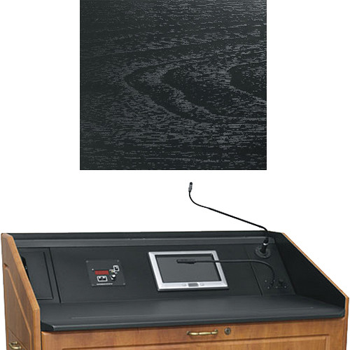 "Middle Atlantic L5 Turret Lectern Wood Finishing Kit for Presenter's Panel Frame (Contemporary, Ebony Ash, 43"" width)"