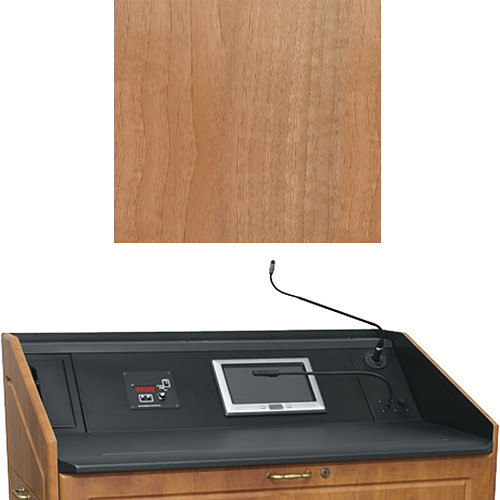 "Middle Atlantic L5 Turret Lectern Wood Finishing Kit for Presenter's Panel Frame (Contemporary, Light Walnut, 43"" width)"