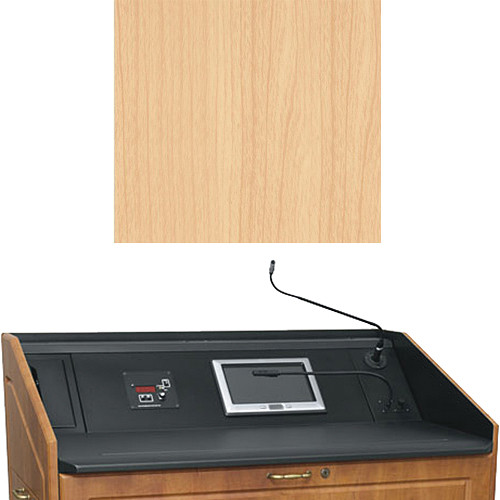 "Middle Atlantic L5 Turret Lectern Wood Finishing Kit for Presenter's Panel Frame (Contemporary, Maple, 33"" width)"