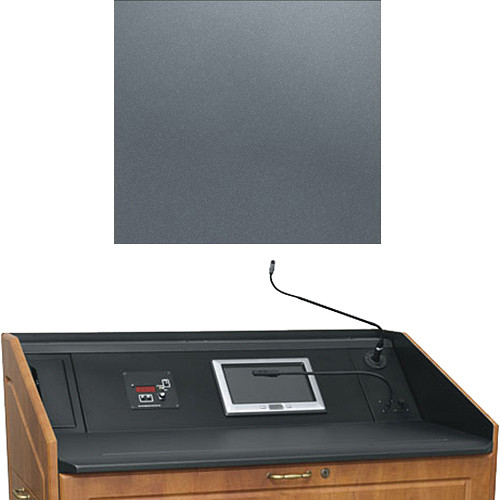 "Middle Atlantic L5 Turret Lectern Wood Finishing Kit for Presenter's Panel Frame (Contemporary, Shark Gray, 33"" width)"