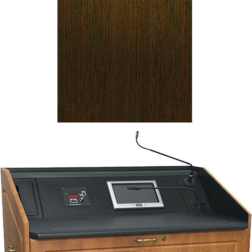 "Middle Atlantic L5 Turret Lectern Wood Finishing Kit for Presenter's Panel Frame (Contemporary, Wenge, 33"" width)"