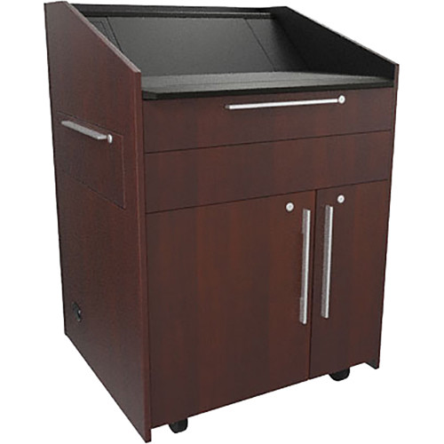 """Middle Atlantic L5 Lectern Turret Top (33 x 31 x 39"""" Sota Style, Thermolaminate, Napa, 2 Drawers)"""