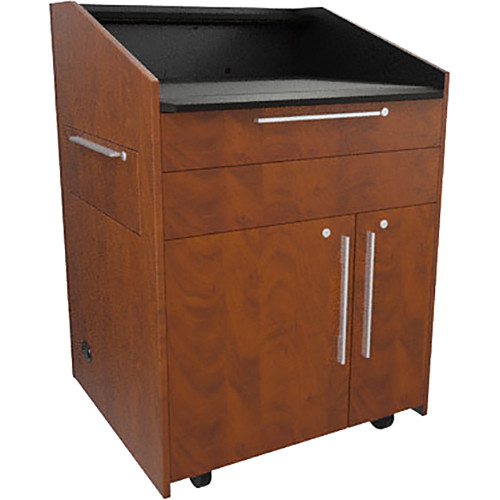 "Middle Atlantic L5 Lectern Flat Top (33 x 31 x 39"" Sota Style, Thermolaminate, Auburn Stream, 2 Drawers)"