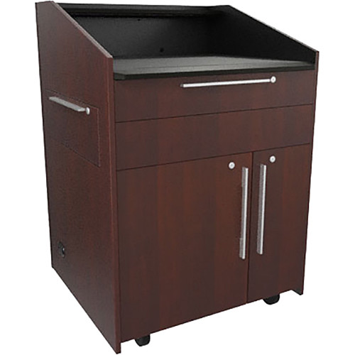 """Middle Atlantic L5 Lectern Flat Top (33 x 31 x 39"""" Sota Style, Thermolaminate, Napa, 2 Drawers)"""