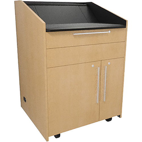 """Middle Atlantic L5 Lectern Flat Top (33 x 31 x 39"""" Sota Style, Thermolaminate, Native Maple)"""
