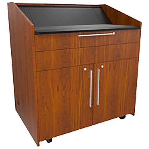 """Middle Atlantic L5 Lectern Turret Top (43 x 31 x 39"""" Sota Style, High-Pressure Laminate, Glamour Cherry)"""