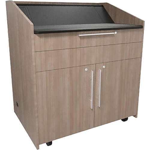 "Middle Atlantic L5 Lectern Flat Top (43 x 31 x 39"" Sota Style, High-Pressure Laminate, 5th Ave Elm)"