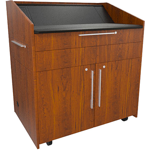 "Middle Atlantic L5 Lectern Flat Top (43 x 31 x 39"" Sota Style, High-Pressure Laminate, Glamour Cherry)"
