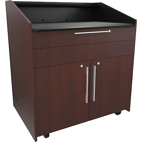 "Middle Atlantic L5 Lectern Flat Top (43 x 31 x 39"" Sota Style, Thermolaminate, Napa)"