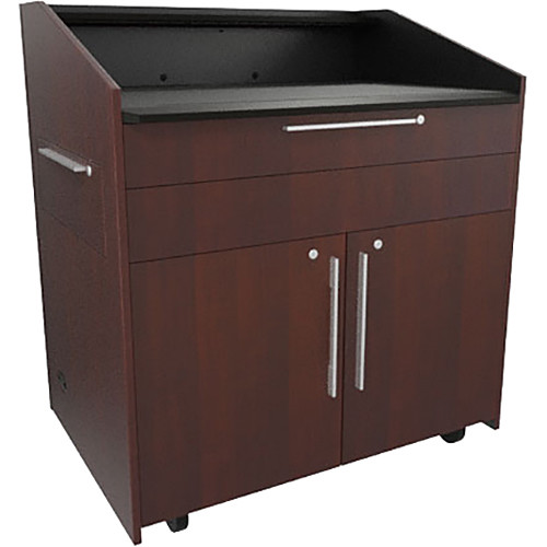 """Middle Atlantic L5 Lectern Flat Top (43 x 31 x 39"""" Sota Style, Thermolaminate, Napa, 2 Drawers)"""