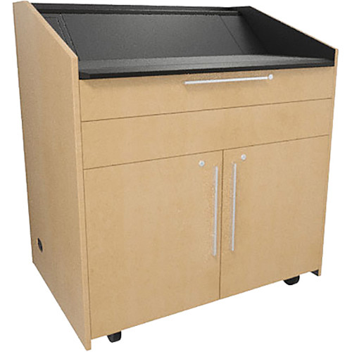 """Middle Atlantic L5 Lectern Flat Top (43 x 31 x 39"""" Sota Style, Thermolaminate, Native Maple)"""