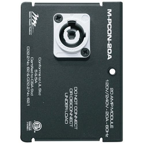 "Middle Atlantic MPR 20 Amp 4"" Switchable Powercon Module"