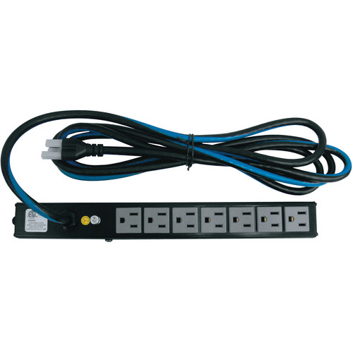 Middle Atlantic PD-715SC-NS 15A 7-Outlet Vertical Mini PD Slim Power Strip