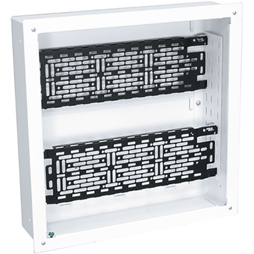 """Middle Atlantic 14 x 14"""" Proximity Series In-Wall Box with Two Lever Lock 4"""" Mounting Plate for Storing AV System Components"""
