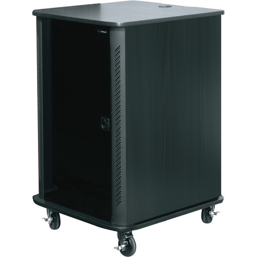 "Middle Atlantic RFR-2428BR 45"" RFR Reference Series Furniture Rack System (Black Rain)"