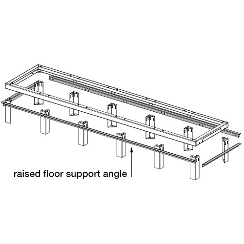 "Middle Atlantic SANGLE Raised Floor Support Angles, for SNE Series 27/48"" / VFEET1"