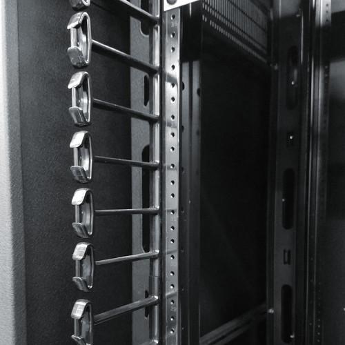 "Middle Atlantic Vertical Plastic Finger Option for 28"" Wide SR Series Rack (24 Space)"
