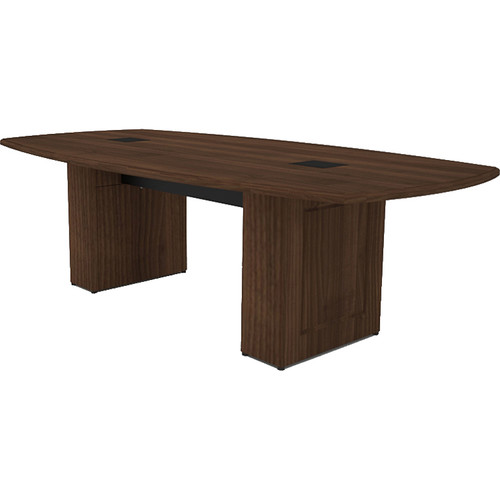 Middle Atlantic Klasik Style T5 Conference Table (8', Sepia Walnut Veneer with Premium Edge)