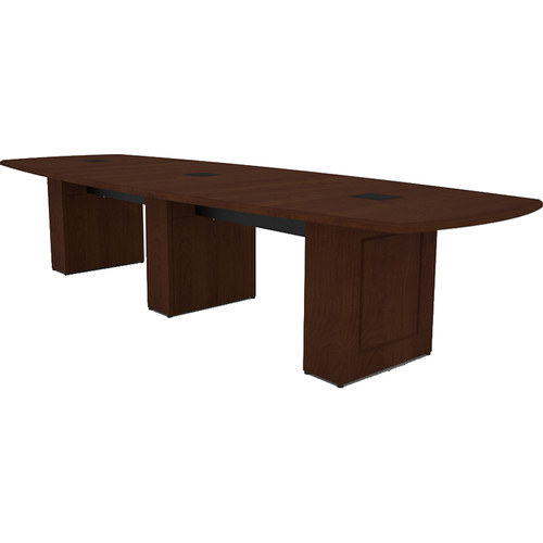 Middle Atlantic Klasik Style T5 Conference Table (12', Scarlett Cherry Veneer with Premium Edge)