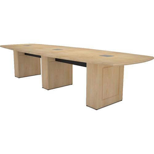Middle Atlantic Klasik Style T5 Conference Table (12', Sandy Maple Veneer with Premium Edge)