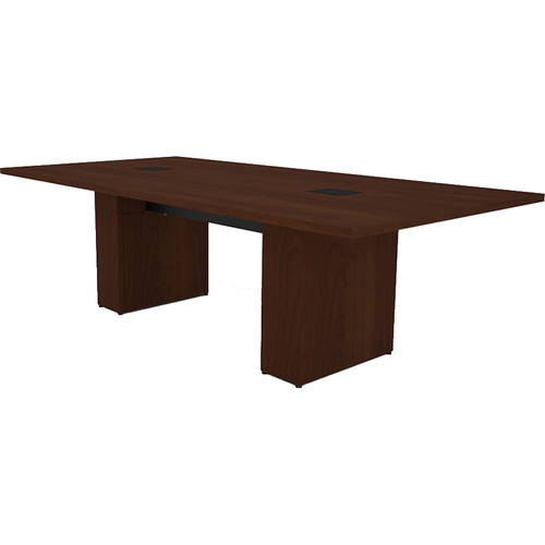 Middle Atlantic T5 Conference Table, Sota Style 8' with Self Edge (Scarlett Cherry Veneer)
