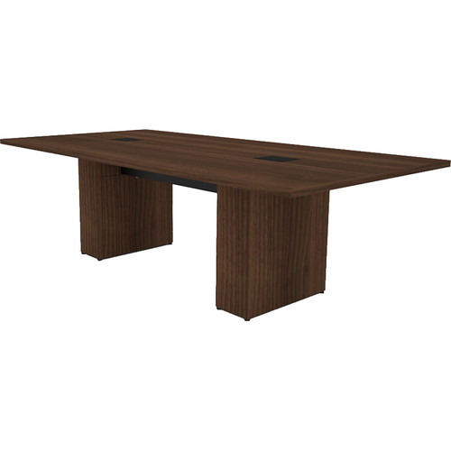 Middle Atlantic T5 Conference Table, Sota Style 8' with Self Edge (Sepia Walnut Veneer)