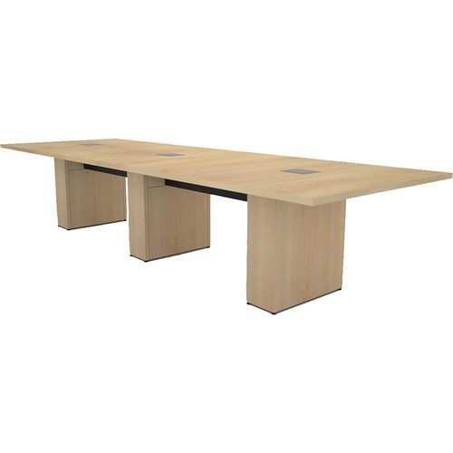 Middle Atlantic T5 Conference Table, Sota Style 12' with Self Edge (Sandy Maple Veneer)